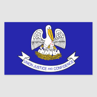Louisiana Flag Rectangular Sticker