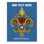 Louisiana Flor de lis Postcard