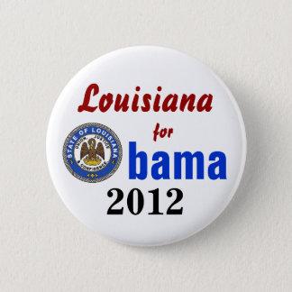 Louisiana for Obama 2012 6 Cm Round Badge