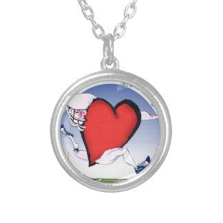 louisiana head heart, tony fernandes silver plated necklace