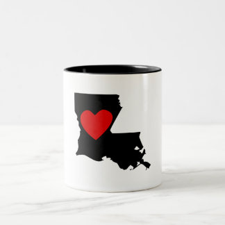 Louisiana Heart Two-Tone Coffee Mug