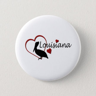 Louisiana Hearts with Pelicans Button