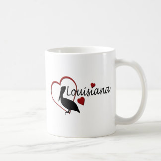 Louisiana Hearts with Pelicans Mugs