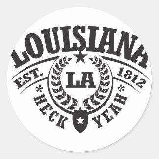 Louisiana Heck Yeah Est 1812 Round Sticker