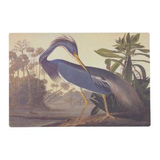 Louisiana heron Laminated Placemat