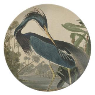 Louisiana Heron Party Plates