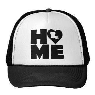 Louisiana Home Heart State Ball Cap Trucker Hat