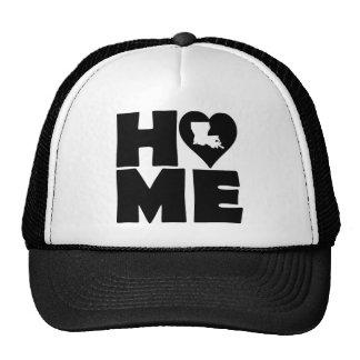Louisiana Home Heart State Ball Cap Trucker Hat