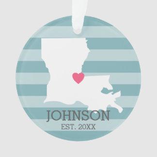Louisiana Home State Map - Custom Wedding City