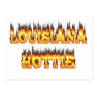 Louisiana Hottie Fire and Flames Pack Of Chubby Business Cards