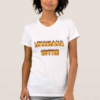 Louisiana Hottie Fire and Flames Tee Shirts