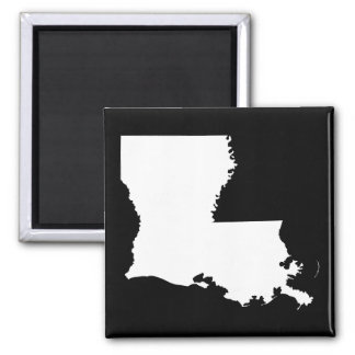 Louisiana in White and Black Magnet