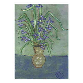 Louisiana Irises in A Jug Custom Invitation