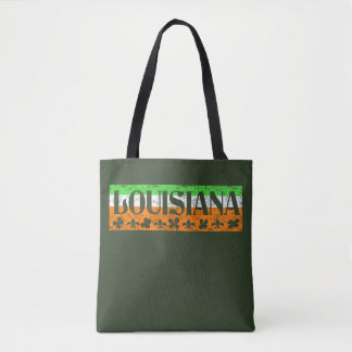 Louisiana Irish St. Patrick's Day Clover Fleur Tee Tote Bag