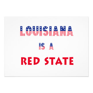 Louisiana is a Red State Invitation