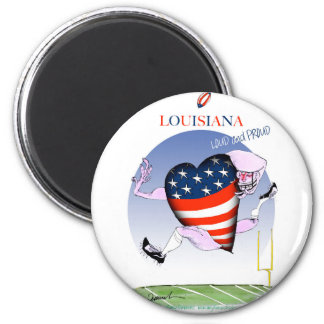 louisiana loud and proud, tony fernandes 6 cm round magnet