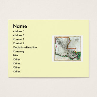 Louisiana Map and State Flag Business Card