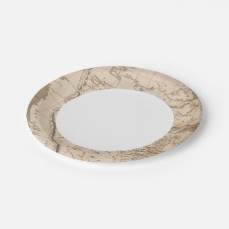 Louisiana Map by Arrowsmith Paper Plate