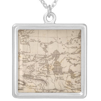 Louisiana Map by Arrowsmith Silver Plated Necklace