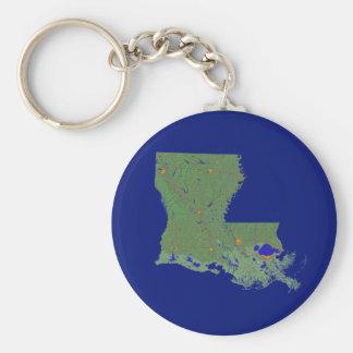 Louisiana Map Keychain
