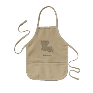 Louisiana map kids apron