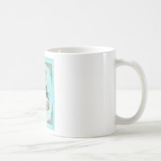 Louisiana Map With Lovely Birds Basic White Mug