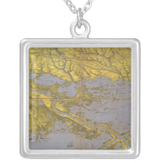 Louisiana, Mississippi, and Alabama Silver Plated Necklace