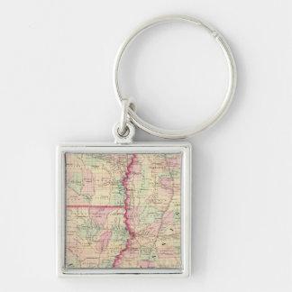 Louisiana, Mississippi Key Ring
