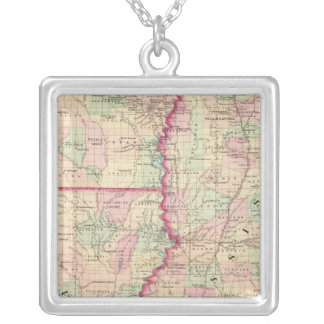Louisiana, Mississippi Silver Plated Necklace