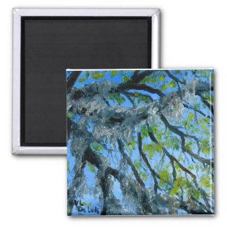 Louisiana Mossy Oak Limbs Square Magnet
