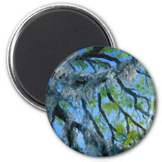 Louisiana Mossy Oak Limbs 6 Cm Round Magnet