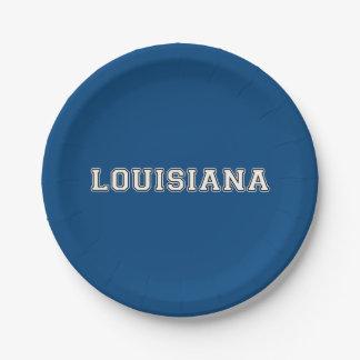 Louisiana Paper Plate