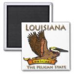 Louisiana Pelican State Pelican Fridge Magnet