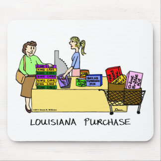 Louisiana Purchase Cartoon Mousepad