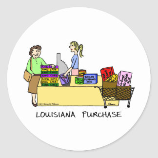 Louisiana Purchase Cartoon Sticker
