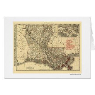 Louisiana Railroad Map 1896 Card