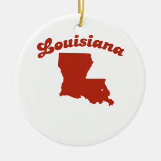 LOUISIANA Red State Ornament