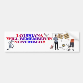 Louisiana - Return Congress To The People!! Bumper Sticker