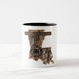 LOUISIANA RIG UP CAMO Two-Tone COFFEE MUG