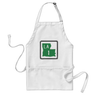 Louisiana Route 1 (One) Road Trip Travel Sign Apron