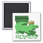 Louisiana Royalty (green gator) Magnets