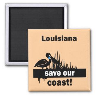 Louisiana save our coast square magnet