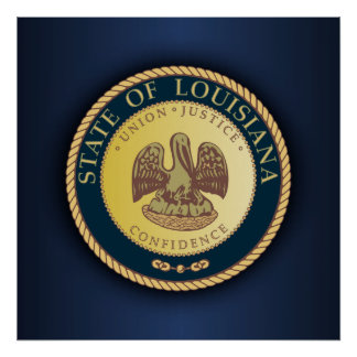 Louisiana Seal Poster