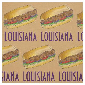Louisiana Shrimp Po'Boy New Orleans Sandwich Fabric