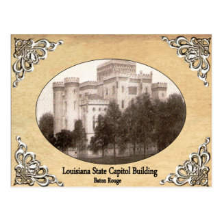 Louisiana State Capitol Building Old Postcard