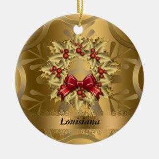 Louisiana State Christmas Ornament
