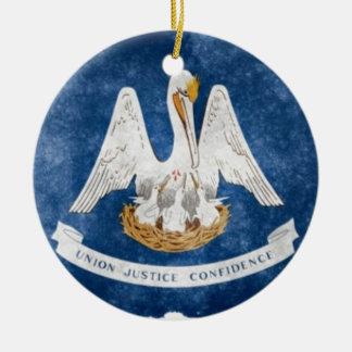 Louisiana State Flag Christmas Ornament