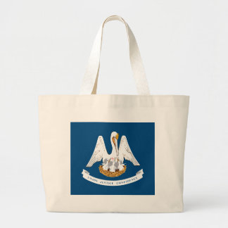 Louisiana State Flag Large Tote Bag