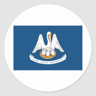 Louisiana State Flag Round Sticker