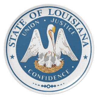 Louisiana state flag usa united america symbol sea plates